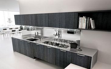 handcraft textures. cucina moderna in legno a scomparsa ...