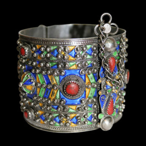 Algerian Handicrafts - Cavigliera-Algerian Handicrafts-Bracelet Berbère Ameluh