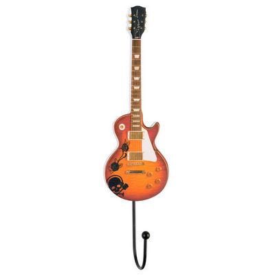 La Chaise Longue - Appendiabiti da parete-La Chaise Longue-Patère guitare electro en fibre de bois 25x6cm